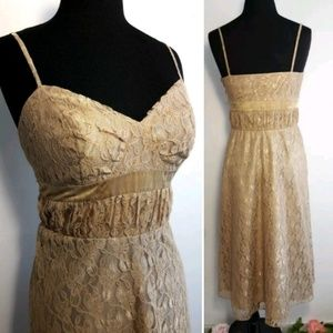 Due Per Due Lace Overlay Dress Womens Size 4
